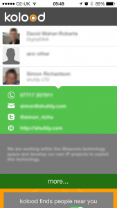 contact info from ibeacon